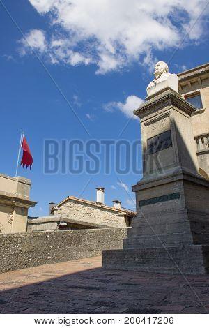 Bust of Giuseppe Garibaldi, San Marino, 17 july 2017