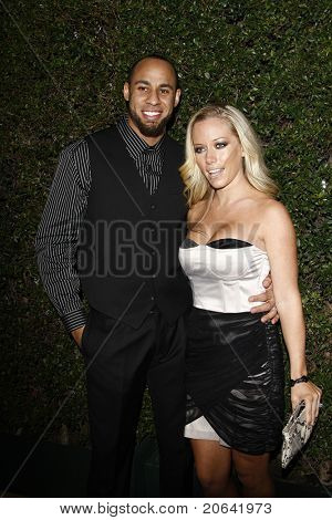WEST HOLLYWOOD, CA  - JAN 5:  Kendra Wilkinson and husband Hank Baskett at the COVERGIRL 50th Anniversary Celebration at BOA Steakhouse held on January 5, 2011 in West Hollywood, California.