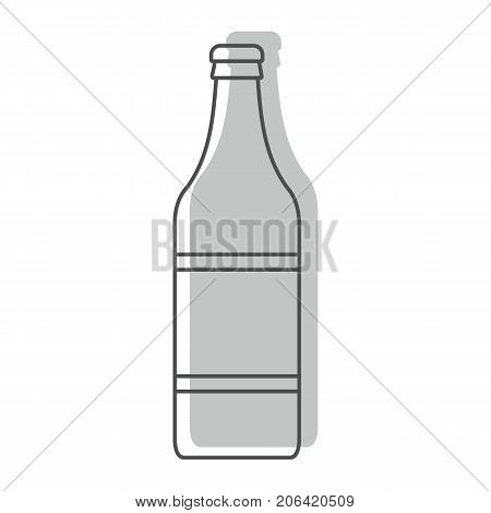 Bottle alcohol vodka in line with color silhouette style icons vector illustration for design and web isolated on white background. Bottle alcohol vodka vector object for labels and logo