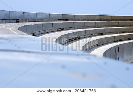 Photo of multilayer arch made of metal