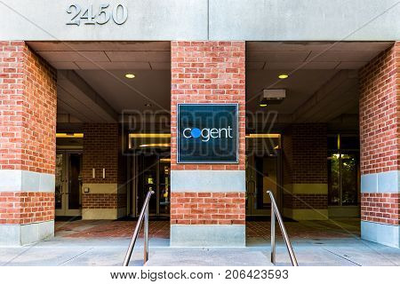 Washington Dc, Usa - August 4, 2017: Cogent Sign On Building Exterior, A Corporation Internet Servic
