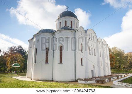Boris and Gleb Church in city Chernigov (XII century). Borisoglebsky Cathedral - the tomb of princes, Ukraine