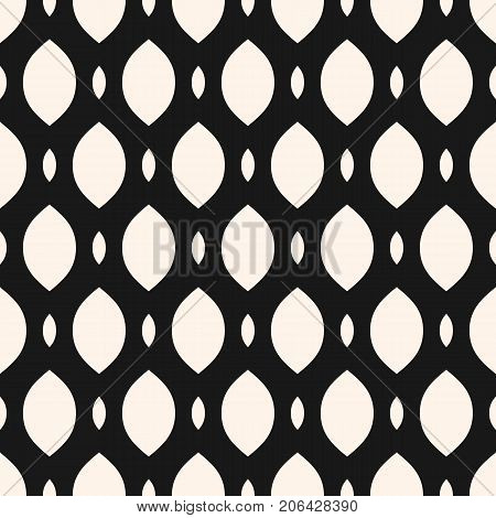 Vector seamless pattern, smooth mesh texture. Monochrome illustration of lattice, tissue, weave, mesh, net, fishnet. Stylish geometric abstract repeat background texture. Pattern design for prints, home decor, textile, cloth, apparel, fabric