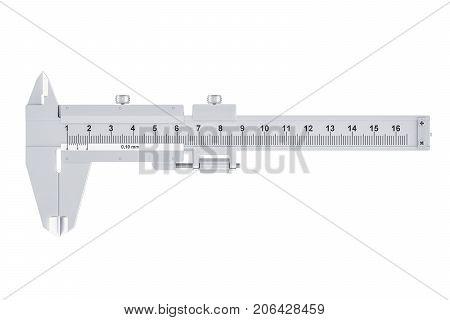 Vernier caliper 3D rendering isolated on white background