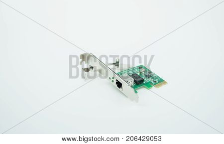 image of a LAN card isolated on white background