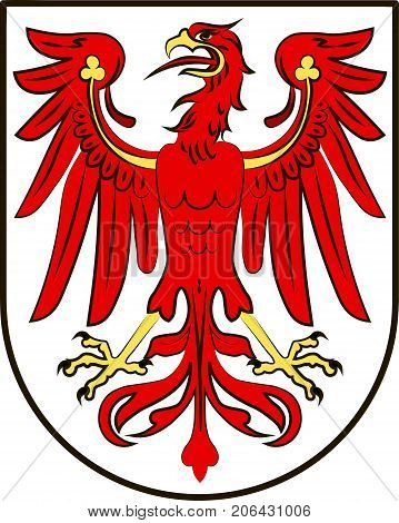 Coat of arms of Brandenburg is state of Germany. Vector illustration from the