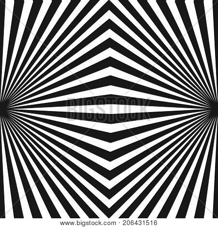 Vector stripes pattern. Abstract background with black and white striped lines. Geometric stripe texture with diagonal lines in square shape.