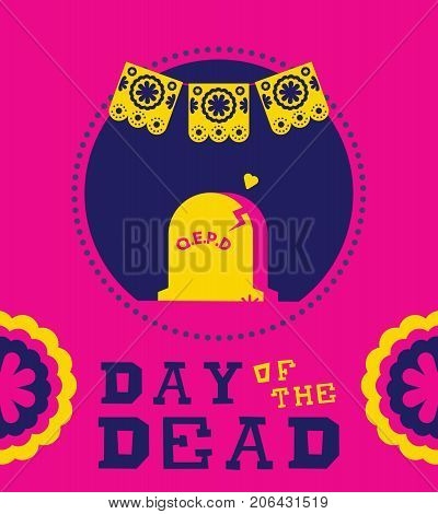 Day Of The Dead Mexican Funeral Tombstone Design