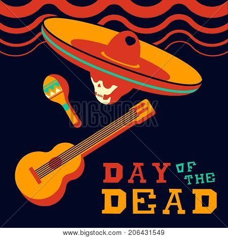 Day Of The Dead Traditional Mariachi Music Design