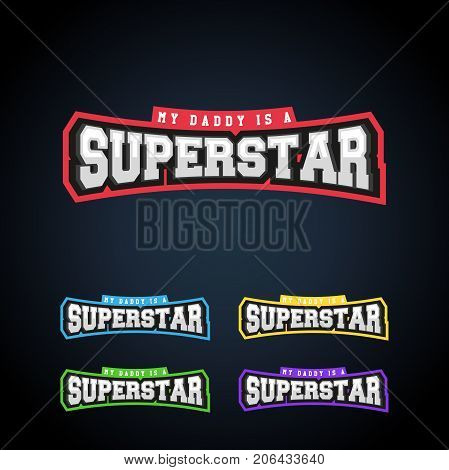 Superstar Power Full Typography, T-shirt Graphics, Vectors. Awesome Sport Retro Text Emblem