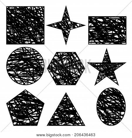 Illustration geometric shapes on a white background.