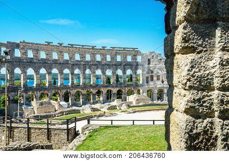 Roman Amphitheater in Pula, Istria, Croatia Europe