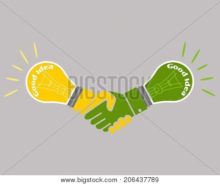 Business good idea deal concept isolated on the grey background, vector illustration
