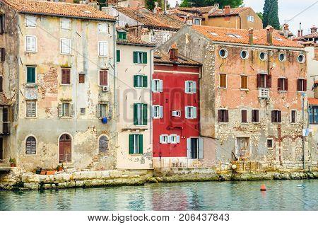Beautiful old town of Rovinj with colorful buildings, Istrian peninsula, Croatia, Europe