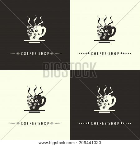 Illustration logo design for a coffee shop.