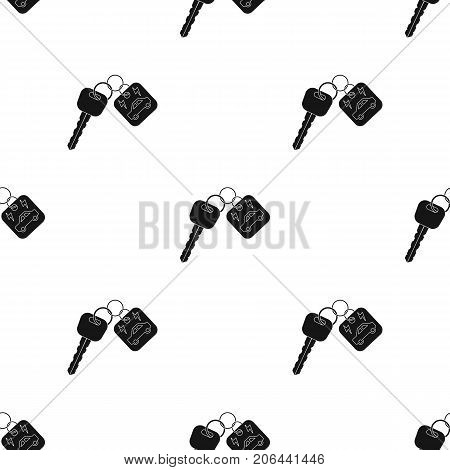 Key from eco car icon in black design isolated on white background. Bio and ecology symbol stock vector illustration.