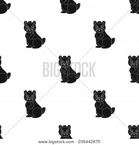Kangaroo, single icon in black style.Kangaroo, vector symbol stock illustration .