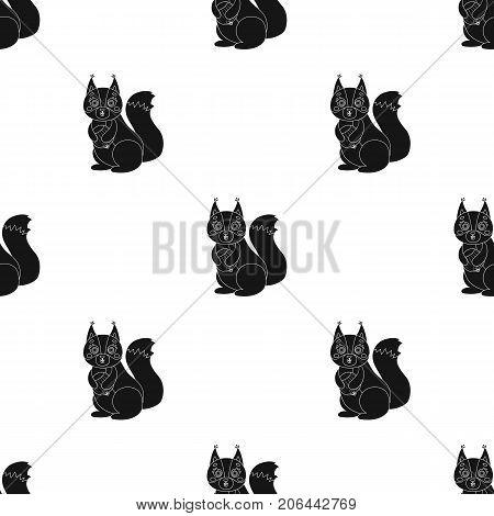 Squirrel, single icon in black style.Squirrel, vector symbol stock illustration .