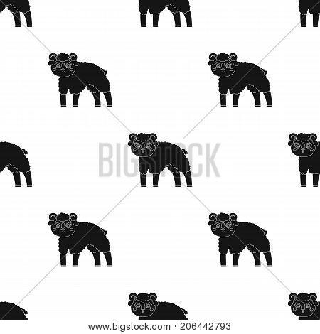 Sheep single icon in black style.Sheep, vector symbol stock illustration .
