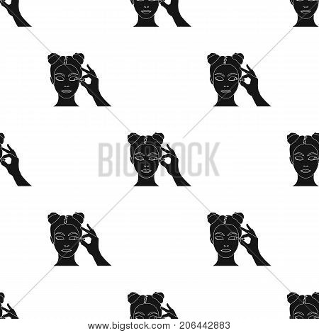 Makeup, single icon in black style. Makeup, vector symbol stock illustration .