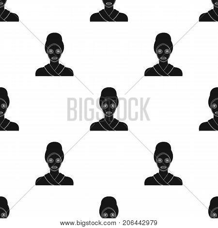 Mask, single icon in black style.Mask, vector symbol stock illustration .