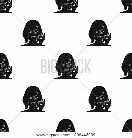 Hairstyle single icon in black style.Hairstyle vector symbol stock illustration .