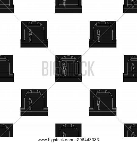 Apron, single icon in black style.Apron, vector symbol stock illustration .