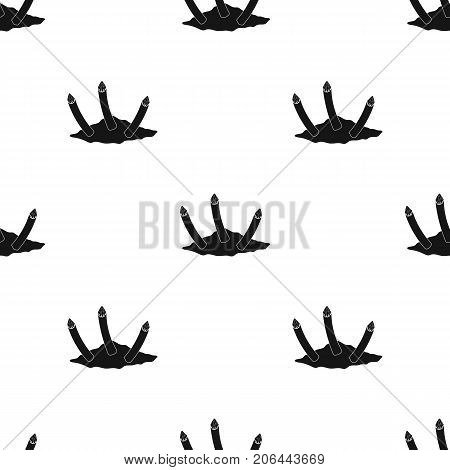 Stakes, single icon in black style.Stakes, vector symbol stock illustration .