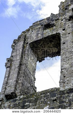 Remains of Corfe Castle / Wareham / United Kingdom