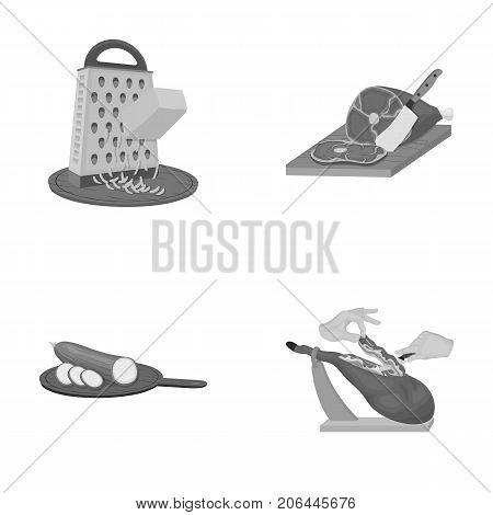 treat, appliance, tool and other  icon in monochrome style.cook, housewife, hands icons in set collection.