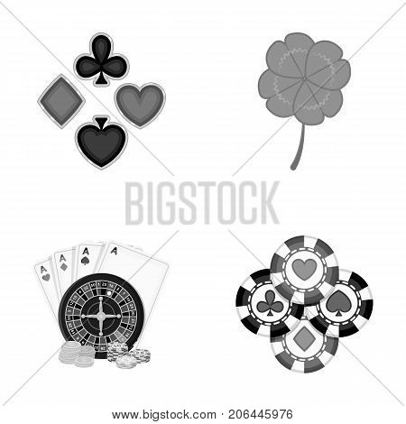 Excitement, casino, game and other  icon in monochrome style. Cheating, entertainment, recreation, icons in set collection.