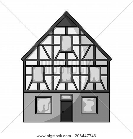 House single icon in monochrome style.House vector symbol stock illustration .
