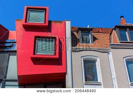 Colorful House Facade In Cologne, Germany