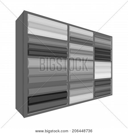 Rack single icon in monochrome style.Rack, vector symbol stock illustration .