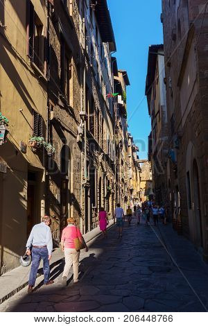 Street Scene In Florence, Tuscany, Italy