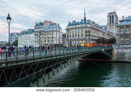 Bridge From Ile De La Cite In Paris, France