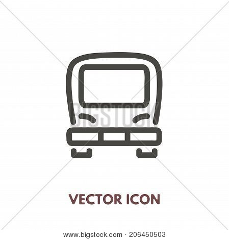 Vector doodle bus icon. Stock line symbol for design.