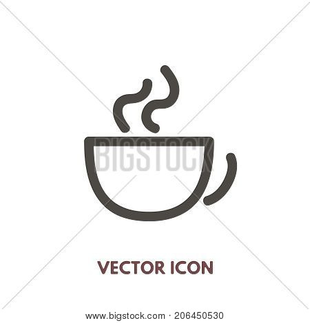 Vector doodle cup icon. Stock line symbol for design.