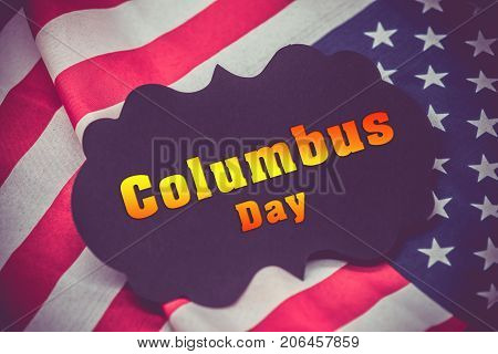 Happy columbus day American and USA frag