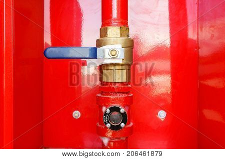 Sprinkler head risers and fittings. Fireman used pipe or tube that connects a sprinkler head to the irrigation system