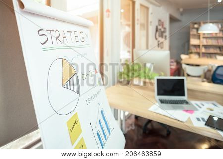 Strategy Business Plan Write On White Paper For Entrepreneur Meeting And Brainstorm At Home Office.c