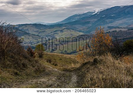 Dirt Road Through Mountainous Countryside