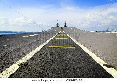 The battleship Runway at Sattahip  Chonbury Thailand