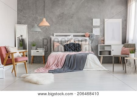 Adorable Bedroom With Powder Pink