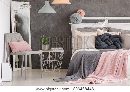 Woman Pastel Color Bedroom