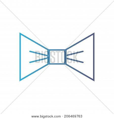 line nice bowtie style decoration design vector illustration