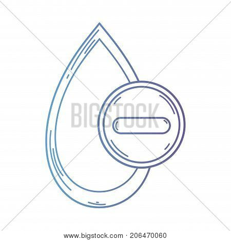 line blood drop to medical donation symbol vector illustration