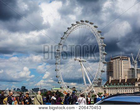 London Eye In London, Hdr