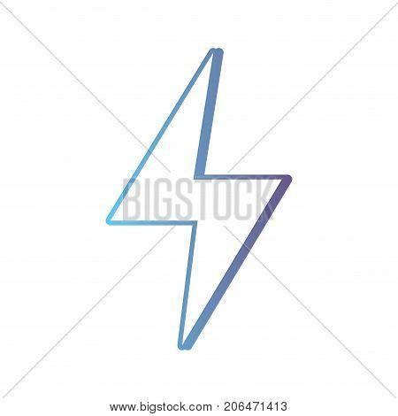 line hazard electric energy symbol vector illustration