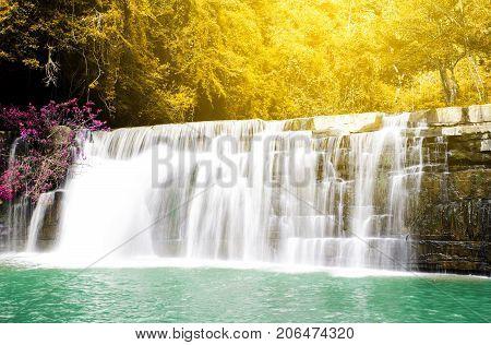 Sri Dit waterfall in Khao kho National Park Thailand
